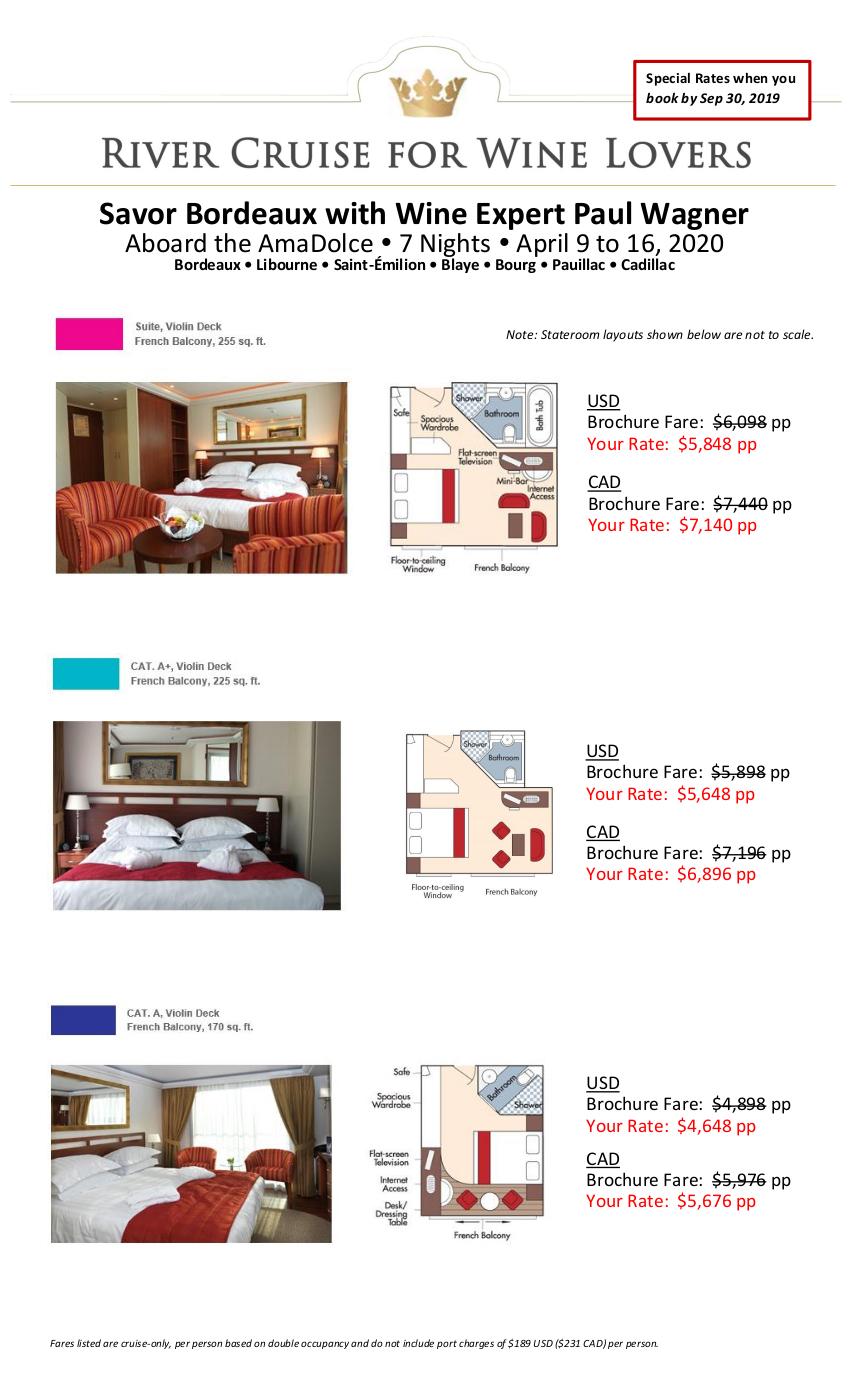 Stateroom Guide - Savor Bordeaux 2020 1