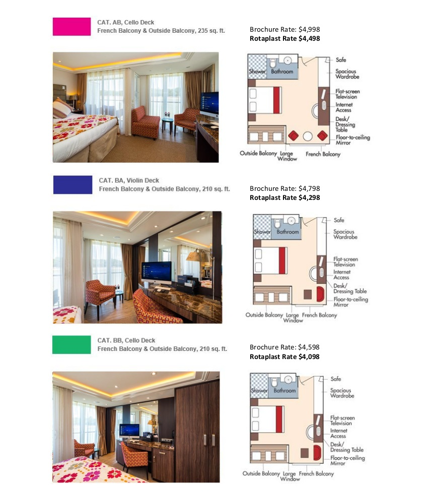 Stateroom Selection Guide Rotaplast 2019 2