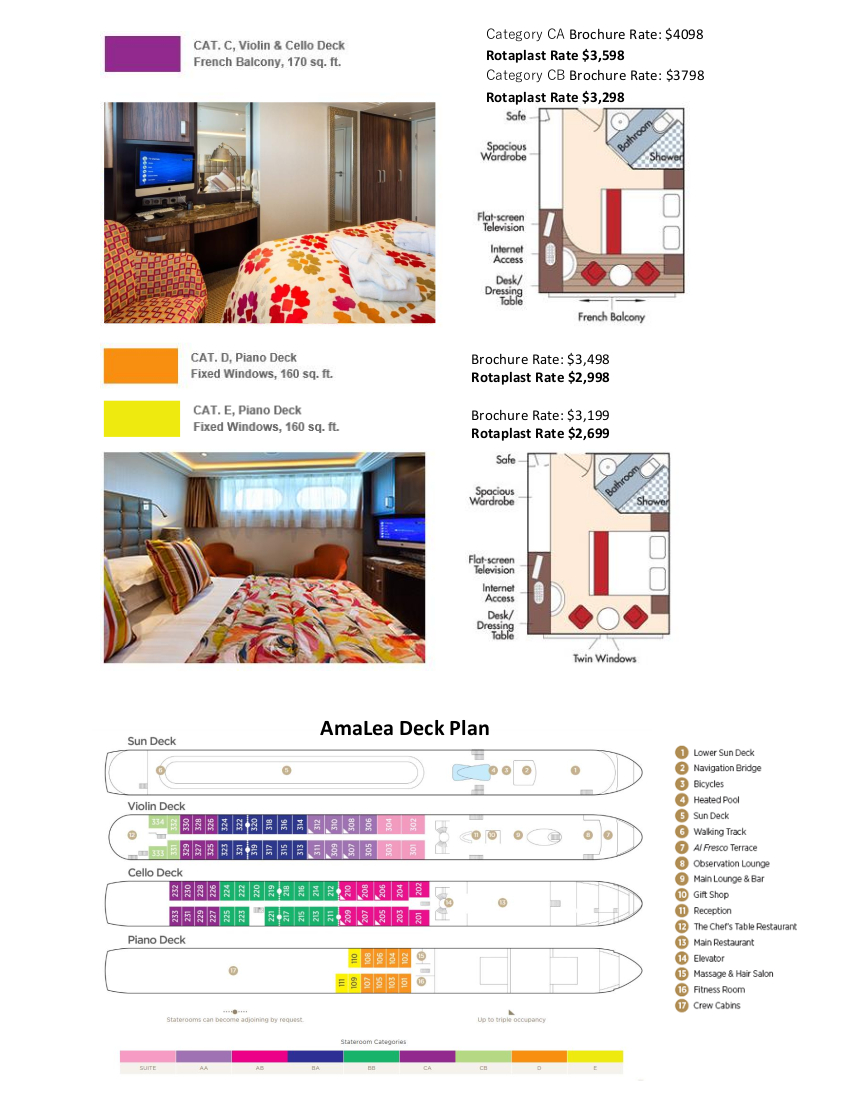 Stateroom Selection Guide Rotaplast 2019 3