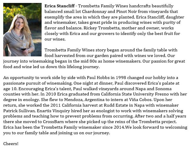 Erica Stancliff Winemaker bio