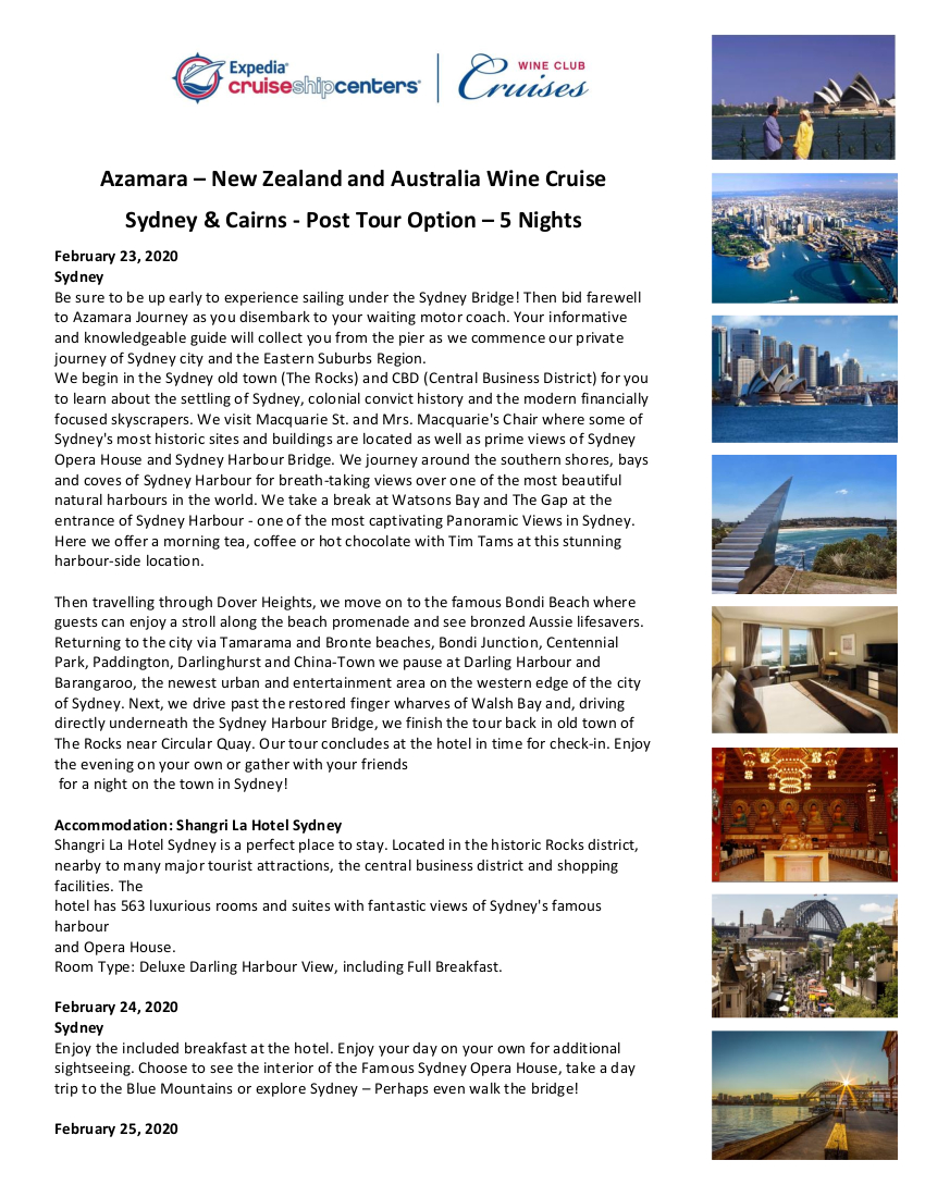 Post Australia 5 nights 1