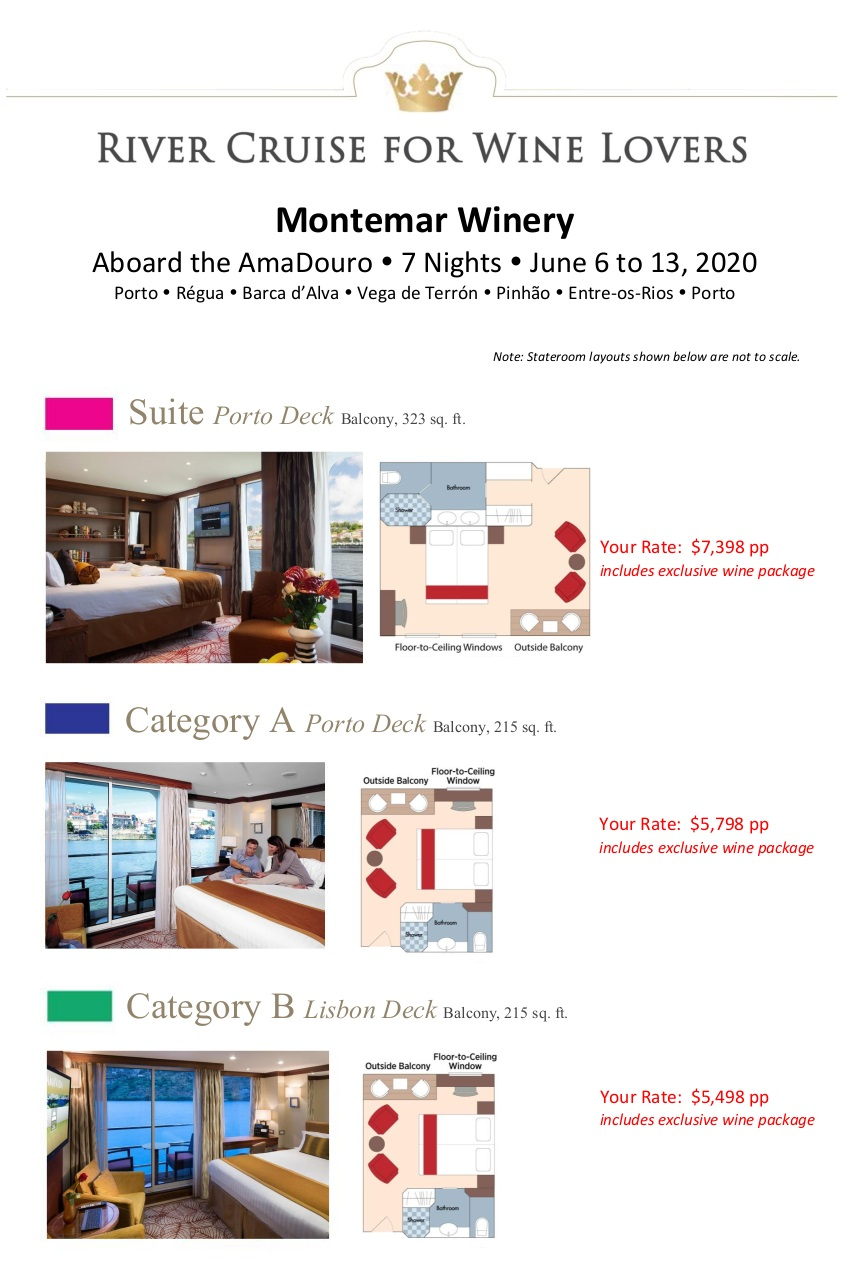 Stateroom Guide - Montemar 2020 Douro 1
