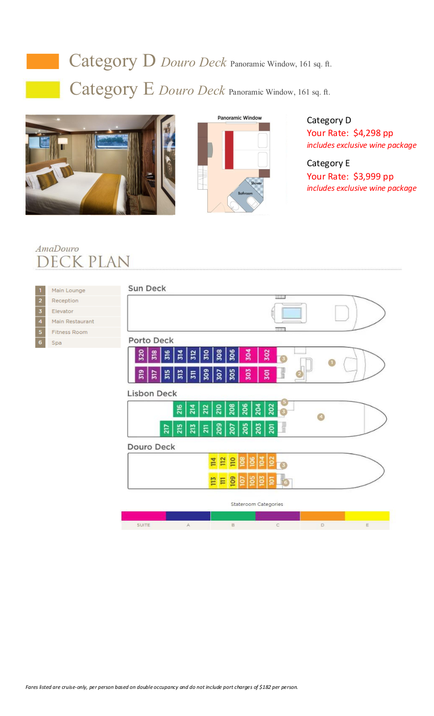Stateroom Guide - Montemar 2020 Douro 2