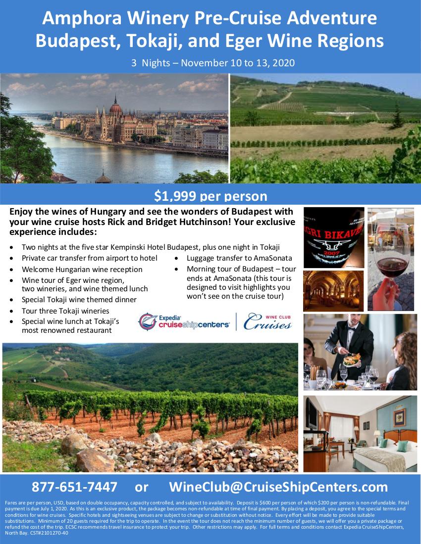 Budapest Pre Cruise Trip Amphora_dec_v2