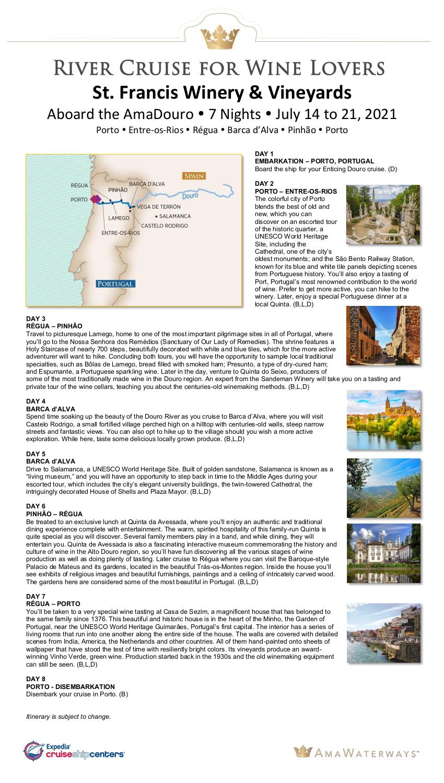 Itinerary - StFrancis 2021 Douro