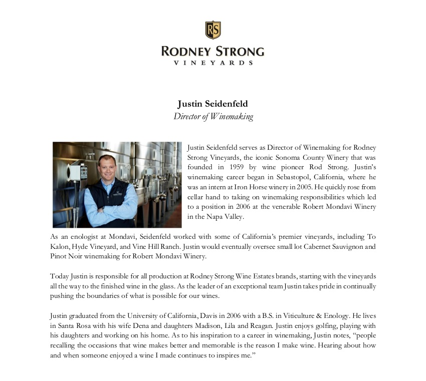 Biography-Justin Seidenfeld- RS Director of Winemaking