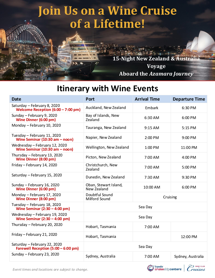 New Zealand 2020 Itinerary with Wine Events_r2