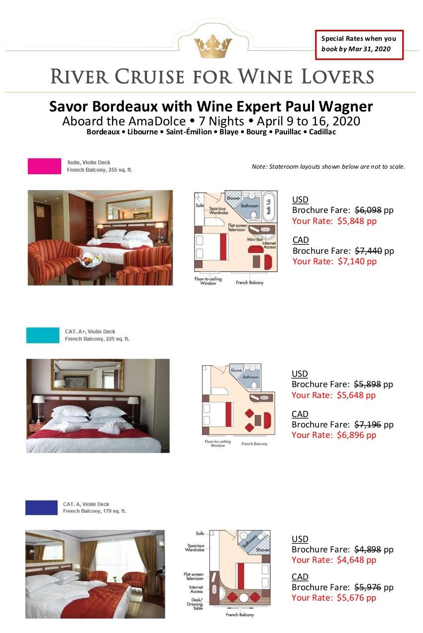 Stateroom Guide - Savor Bordeaux 2020_r41
