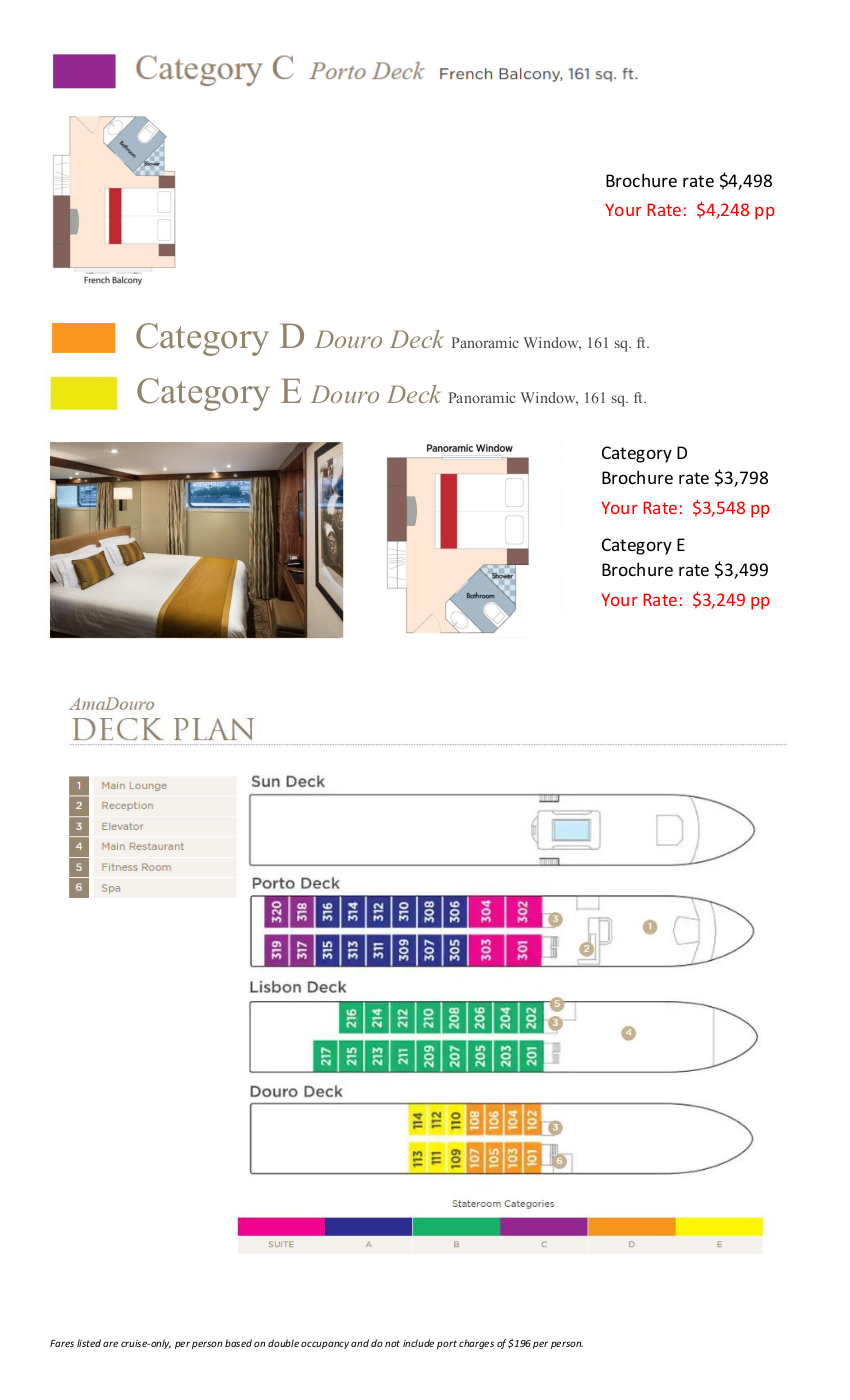 Stateroom Guide - Abacela 2021 Douro 2