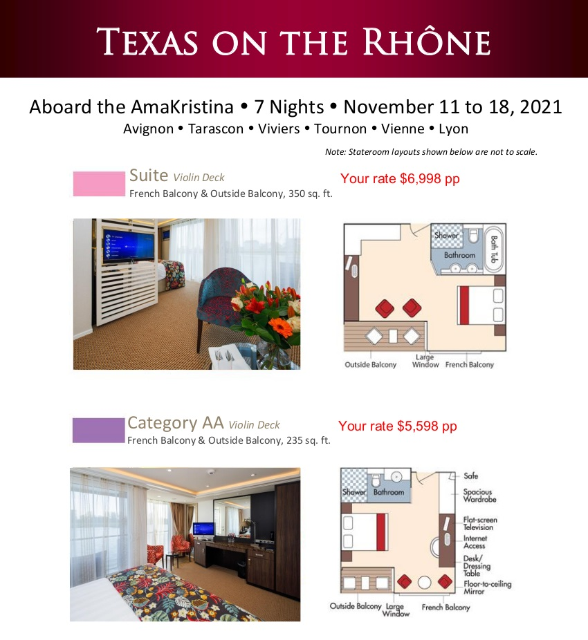 Stateroom Guide - Texas 2021 Rhone 1