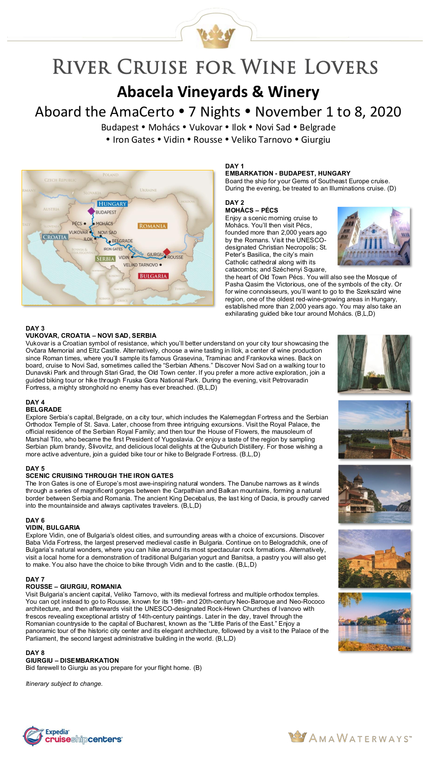 Itinerary Abacela Nov 2020 for Website