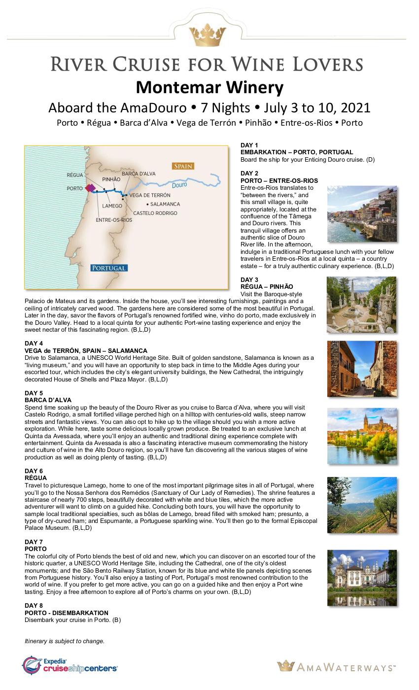 Itinerary - Montemar 2021 Douro