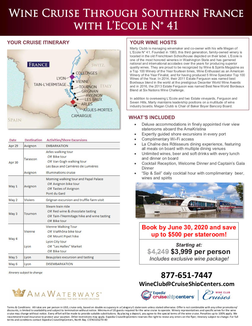 L'Ecole 2021 Wine Cruise Flyer_r1 2