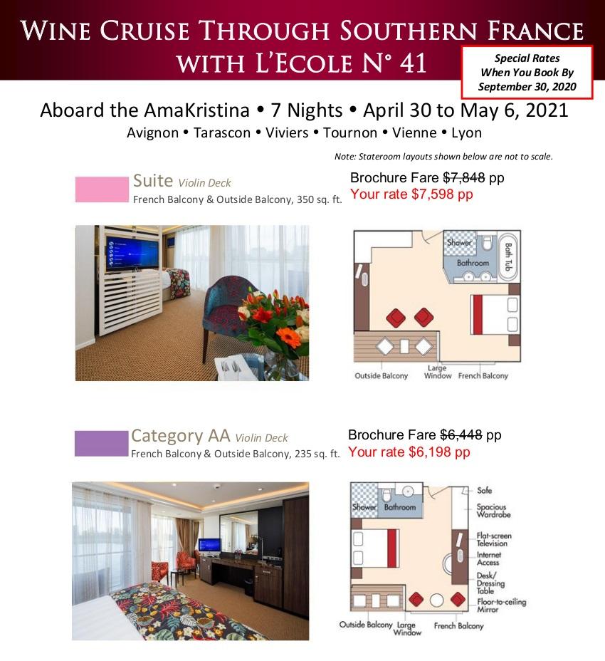 Stateroom Guide - L'Ecole 2021 Rhone_r2 1