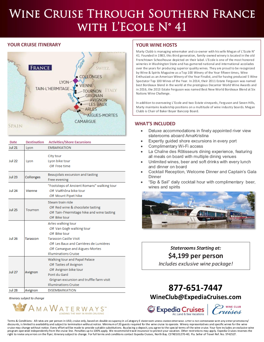 L'Ecole 2022 Wine Cruise Flyer_r3 2