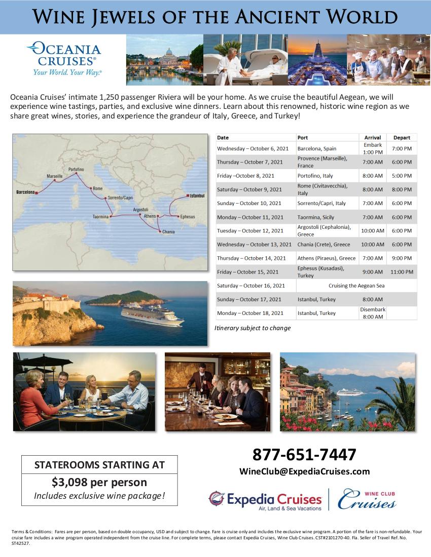 Oceania Greece and Turkey 2021 Cruise Flyer 2