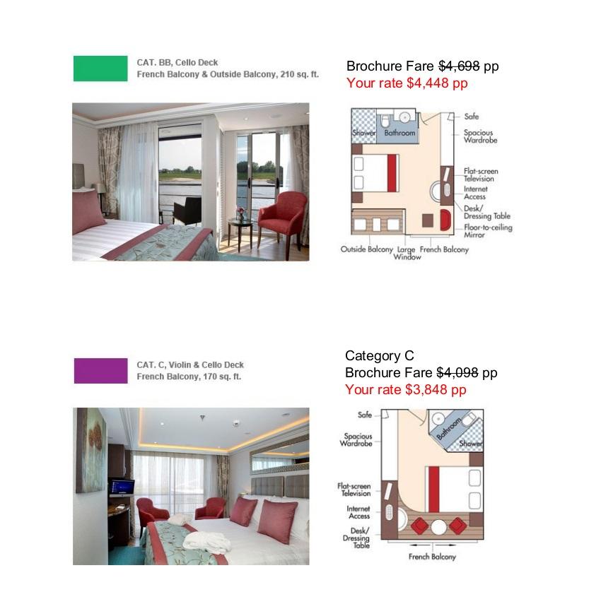 Stateroom Guide - Petaluma Gap 2022 Danube 3