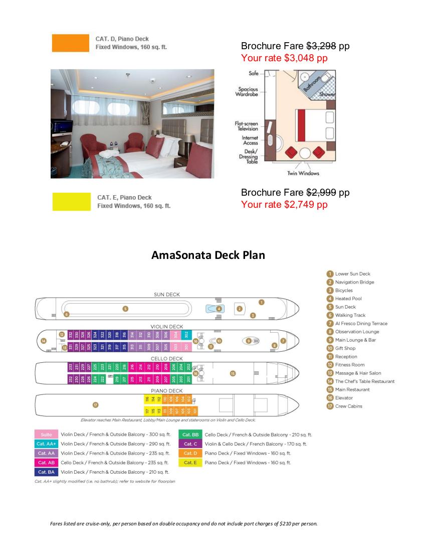 Stateroom Guide - Petaluma Gap 2022 Danube 4