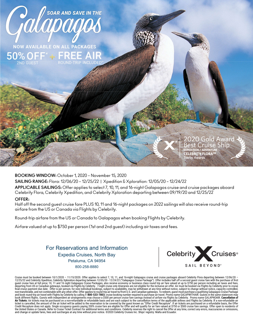 Galapagos Air offer for website