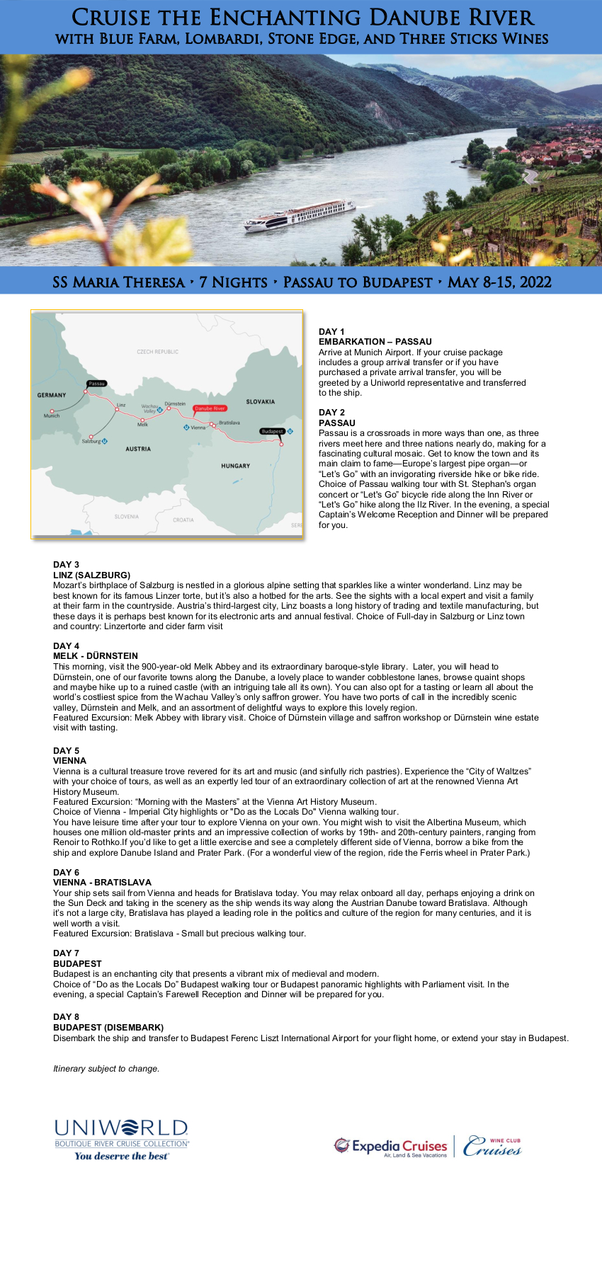 Itinerary - Lombardi et al 2022 Danube_r1