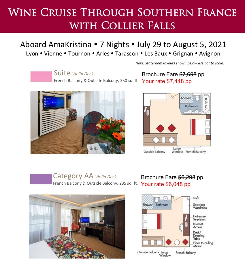 Stateroom Guide - Collier Falls 2021 Rhone 1