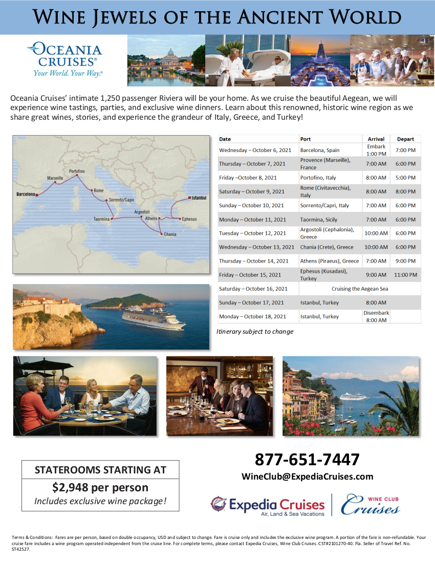 Oceania Greece and Turkey 2021 Cruise Flyer_r1 2