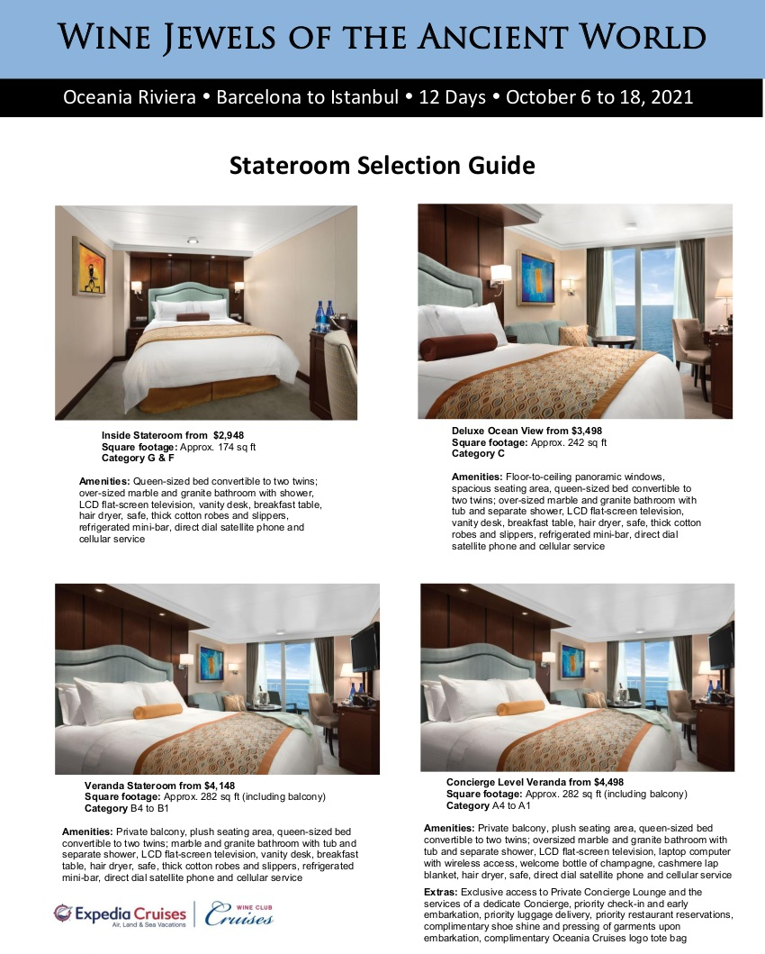 Stateroom Guide - 2021 Oceania Greece and Turkey_r1 1