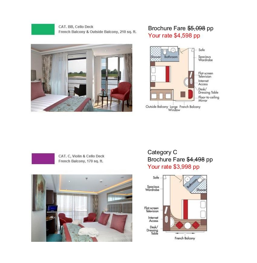 Stateroom Guide - Judd's Hill 2022 Danube 3