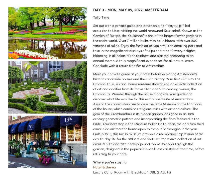 Amsterdam Highlights with Keukenhof & Floriade Expo 5