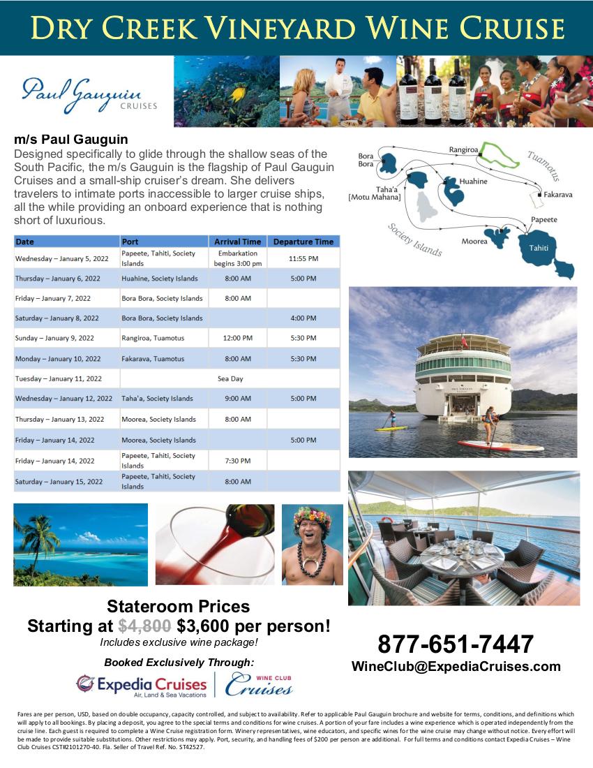 DCV 2022 Tahiti Wine Cruise Flyer 2