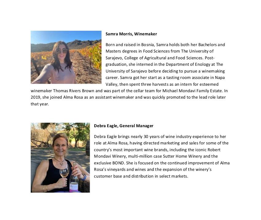 Samra and Debra Bios with photos
