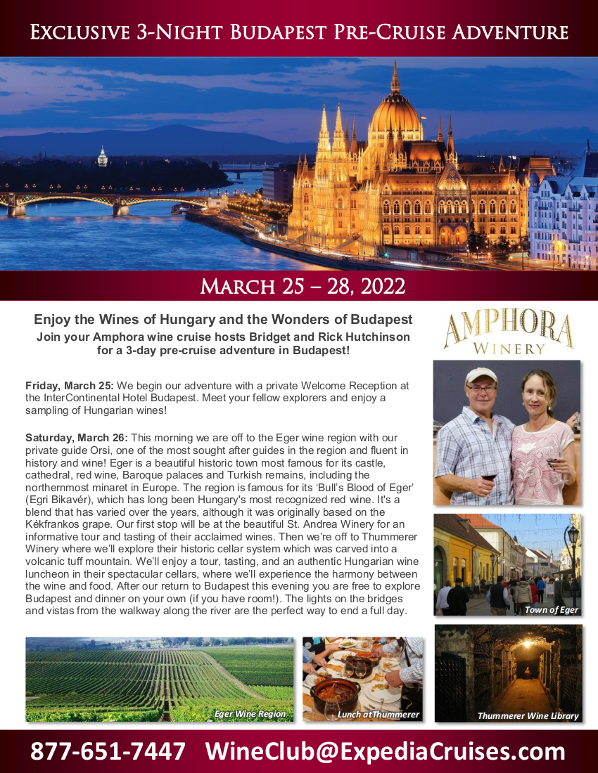 Budapest Pre-Cruise - Amphora 2022_2-pager_r1 1