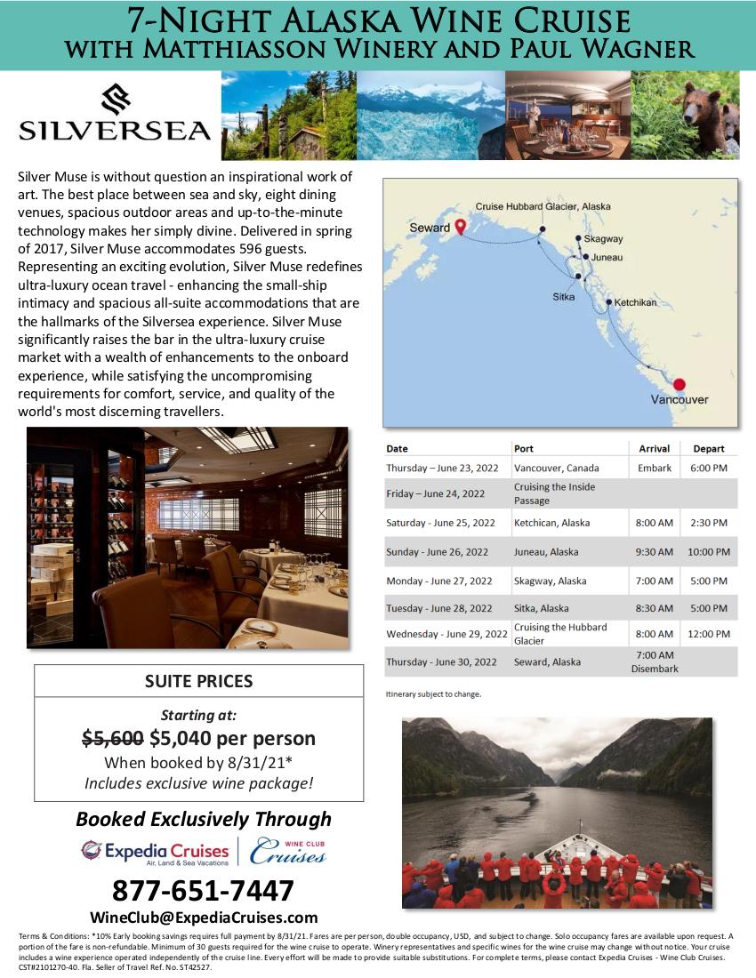 Flyer - Silversea Alaska 2022 2