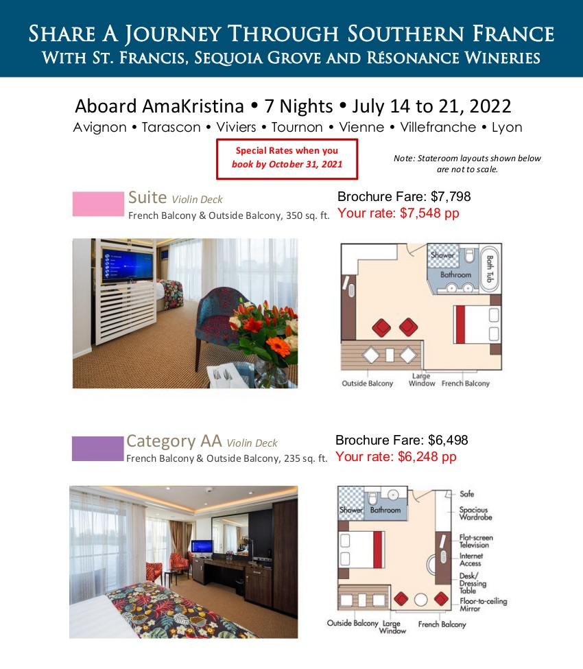 Stateroom Guide - St Francis Wineries 2022 Rhone_r1 1